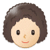 👩🏻‍🦱 woman: light skin tone, curly hair Emoji on Samsung Platform