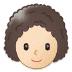 👩🏻🦱 woman: light skin tone, curly hair Emoji on Samsung Platform