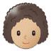 👩🏼🦱 woman: medium-light skin tone, curly hair Emoji on Samsung Platform