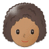 👩🏽🦱 Medium Skin Tone Curly Hair Woman Emoji on Samsung Platform