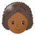 👩🏾‍🦱 woman: medium-dark skin tone, curly hair Emoji on Samsung Platform