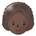 👩🏿🦱 woman: dark skin tone, curly hair Emoji on Samsung Platform