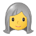 👩‍🦳 woman: white hair Emoji on Samsung Platform