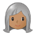 👩🏽‍🦳 woman: medium skin tone, white hair Emoji on Samsung Platform