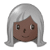 👩🏿‍🦳 woman: dark skin tone, white hair Emoji on Samsung Platform