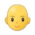 👩🦲 woman: bald Emoji on Samsung Platform