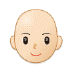 👩🏻‍🦲 woman: light skin tone, bald Emoji on Samsung Platform