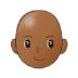 👩🏾‍🦲 woman: medium-dark skin tone, bald Emoji on Samsung Platform