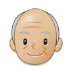 👴🏼 old man: medium-light skin tone Emoji on Samsung Platform