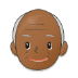 👴🏾 old man: medium-dark skin tone Emoji on Samsung Platform