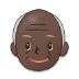 👴🏿 old man: dark skin tone Emoji on Samsung Platform