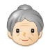 👵🏻 old woman: light skin tone Emoji on Samsung Platform