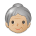 👵🏼 old woman: medium-light skin tone Emoji on Samsung Platform