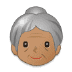 👵🏽 old woman: medium skin tone Emoji on Samsung Platform