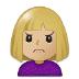 🙍🏼 person frowning: medium-light skin tone Emoji on Samsung Platform