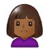 🙍🏾 person frowning: medium-dark skin tone Emoji on Samsung Platform