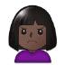 🙍🏿 person frowning: dark skin tone Emoji on Samsung Platform