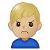 🙍🏼♂️ man frowning: medium-light skin tone Emoji on Samsung Platform