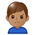 🙍🏽♂️ man frowning: medium skin tone Emoji on Samsung Platform