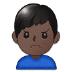 🙍🏿♂️ man frowning: dark skin tone Emoji on Samsung Platform