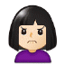 🙍🏻‍♀️ woman frowning: light skin tone Emoji on Samsung Platform