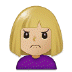 🙍🏼‍♀️ Medium Light Skin Tone Woman Frowning Emoji on Samsung Platform