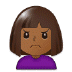 🙍🏾‍♀️ woman frowning: medium-dark skin tone Emoji on Samsung Platform