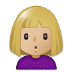 🙎🏼 person pouting: medium-light skin tone Emoji on Samsung Platform