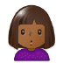 🙎🏾 person pouting: medium-dark skin tone Emoji on Samsung Platform