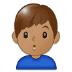 🙎🏽♂️ man pouting: medium skin tone Emoji on Samsung Platform