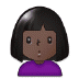 🙎🏿‍♀️ woman pouting: dark skin tone Emoji on Samsung Platform