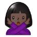 🙅🏿 person gesturing NO: dark skin tone Emoji on Samsung Platform