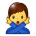 🙅♂️ man gesturing NO Emoji on Samsung Platform