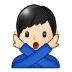🙅🏻♂️ man gesturing NO: light skin tone Emoji on Samsung Platform