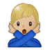 🙅🏼♂️ man gesturing NO: medium-light skin tone Emoji on Samsung Platform
