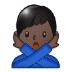 🙅🏿♂️ Dark Skin Tone Man Gesturing No Emoji on Samsung Platform