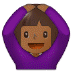 🙆🏾 person gesturing OK: medium-dark skin tone Emoji on Samsung Platform