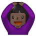 🙆🏿 person gesturing OK: dark skin tone Emoji on Samsung Platform