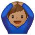 🙆🏽♂️ man gesturing OK: medium skin tone Emoji on Samsung Platform