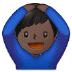 🙆🏿♂️ man gesturing OK: dark skin tone Emoji on Samsung Platform