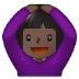 🙆🏿♀️ woman gesturing OK: dark skin tone Emoji on Samsung Platform