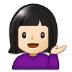 💁🏻 person tipping hand: light skin tone Emoji on Samsung Platform