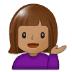 💁🏽 person tipping hand: medium skin tone Emoji on Samsung Platform