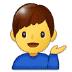 💁♂️ man tipping hand Emoji on Samsung Platform