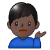 💁🏿‍♂️ man tipping hand: dark skin tone Emoji on Samsung Platform