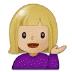 💁🏼♀️ woman tipping hand: medium-light skin tone Emoji on Samsung Platform