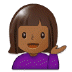 💁🏾‍♀️ woman tipping hand: medium-dark skin tone Emoji on Samsung Platform