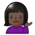 💁🏿‍♀️ woman tipping hand: dark skin tone Emoji on Samsung Platform