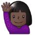 🙋🏿 person raising hand: dark skin tone Emoji on Samsung Platform
