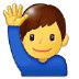🙋♂️ man raising hand Emoji on Samsung Platform